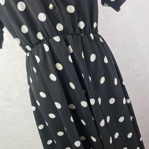Vintage Dresses - Vintage Lady Carol of New York Polka Dot Dress L